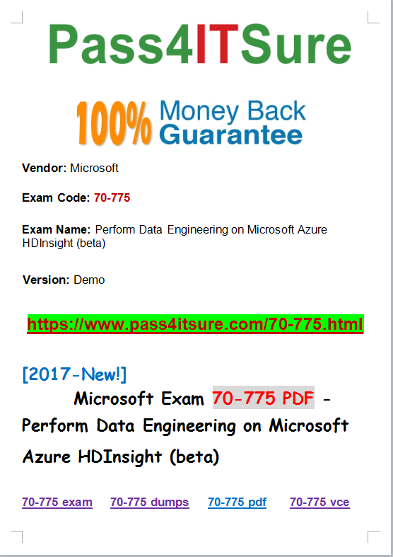 New Questions The Most Effective Microsoft Beta 70 775 Dumps Exam